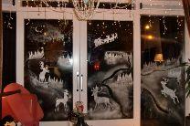 spuitsneeuw raamdecoratie maken